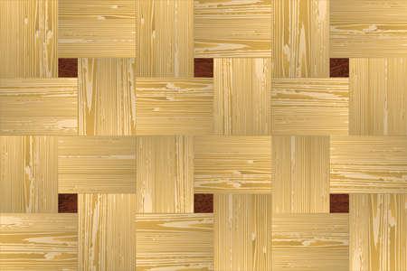 panelling: Artistic mosaic parquet.