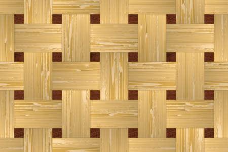 panelling: Artistic mosaic parquet. Illustration