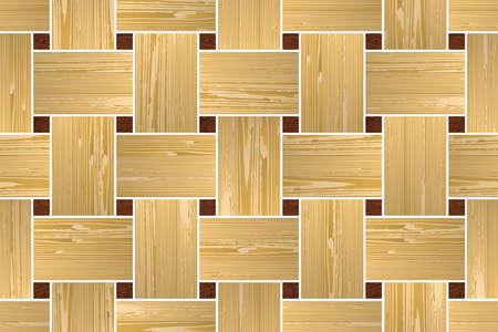 wood paneling: Artistic mosaic parquet.