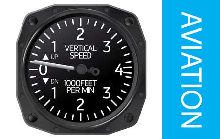 indicator board: Variometer, an instrument for indicating vertical speed of the aircraft