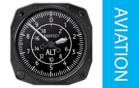 navigational: Altimeter flight and navigational instrument that indicates flight altitude. Illustration