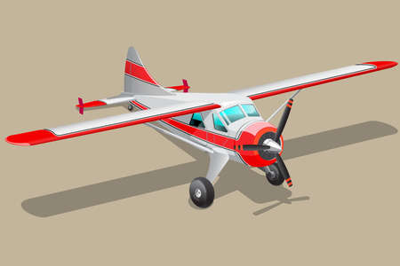 propeller: Vector retro propeller airplane. Illustration clip art.