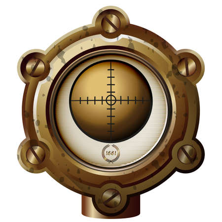 bypass: Ancient measuring device in the style of steampunk