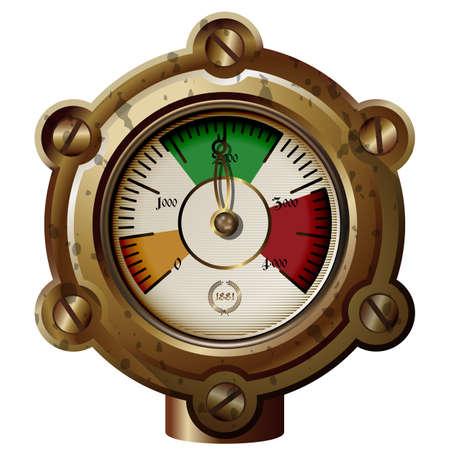 Dispositif de mesure ancienne dans le style de steampunk