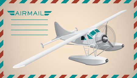 air mail: Postal air mail background.  illustration. Clip art