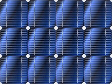 new generation: Solar eco battery illustration. Seamless background