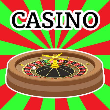 roulette wheel: Casino roulette wheel. Vector illustration. Clip art