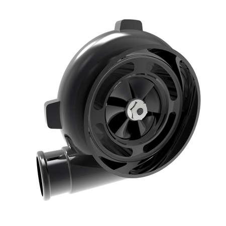 turbocharger: Automotive turbocharger of car Turbine for auto. Photorealistic illustration. Isolated on white