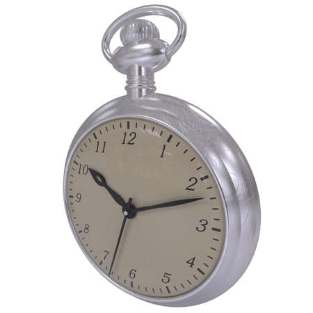cronografo: Antique pocket watch isolated on a white background. 3D render Foto de archivo