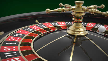 roulette player: Casino black roulette close up. 3D render Stock Photo