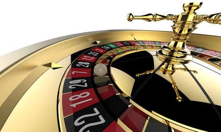 roulette player: Casino roulette wheel close up. 3D render