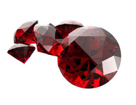 edelstenen: Gemstones isolated on white background. 3D render Stockfoto