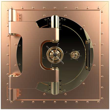 render: Render of the bank vault door 3D