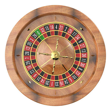 fortune: Casino roulette isolated on white. 3D render Stock Photo