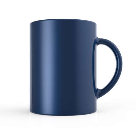 coffeecup: 3d render of a cup isolated on white Stock Photo