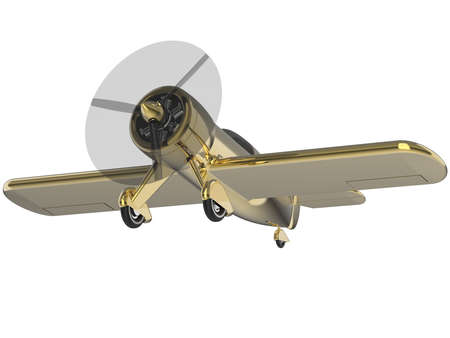 small plane: Propeller small plane isolated on white. 3D render