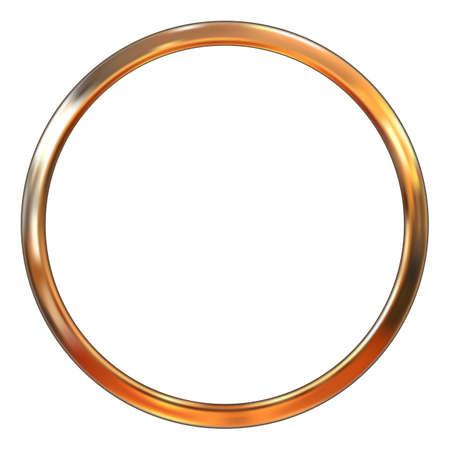Frame gold ring vector illustration. Gradient mesh Illustration