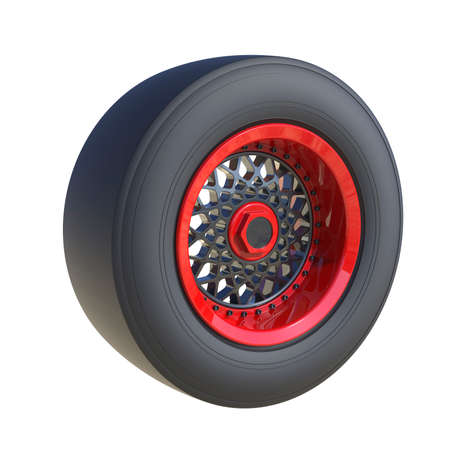 Car wheel isolated on white background. 3D render
