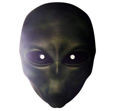 ufo conspiracy theory: Alien 3d render