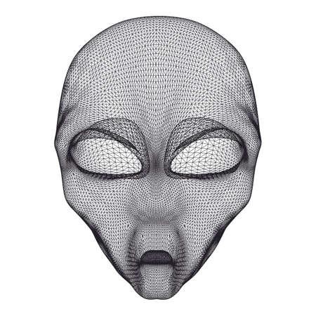 ufo conspiracy theory: Alien head mesh