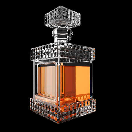 decanter: Decanter with whiskey.3D render