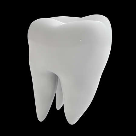 Human tooth 3D render isolated Stock Photo - 72264103
