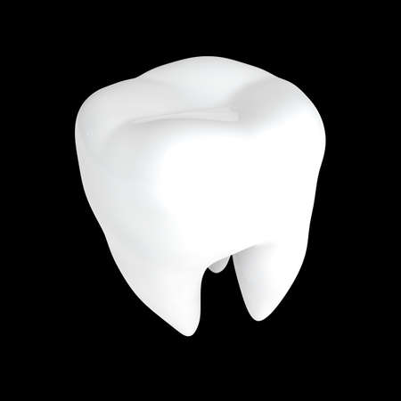 Human tooth 3D render isolated Stock Photo - 72264104