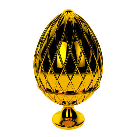 Jewelry egg. 3D render. Stock Photo - 75878313