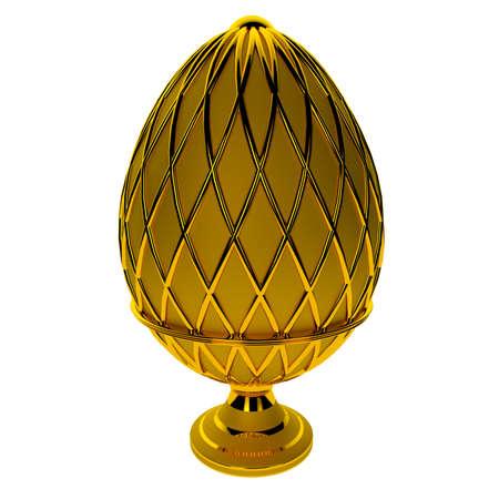 Jewelry egg. 3D render. Stock Photo - 76054663
