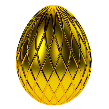 Jewelry egg. 3D render. Stock Photo - 75810838