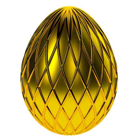 Jewelry egg. 3D render. Stock Photo - 75810838