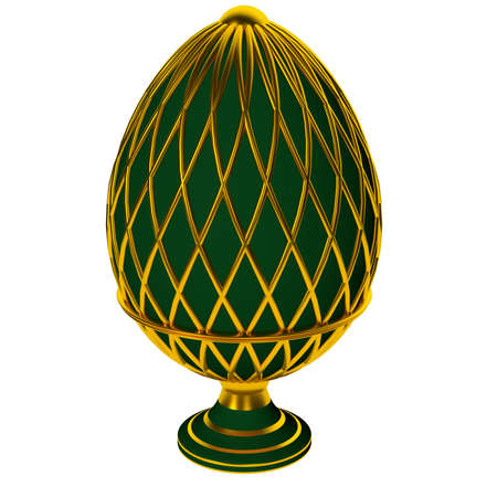 Jewelry egg. 3D render. Stock Photo - 75863074