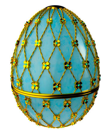 Jewelry egg. 3D render. Stock Photo - 75860165