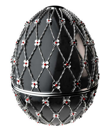 Jewelry egg. 3D render. Stock Photo - 75878315