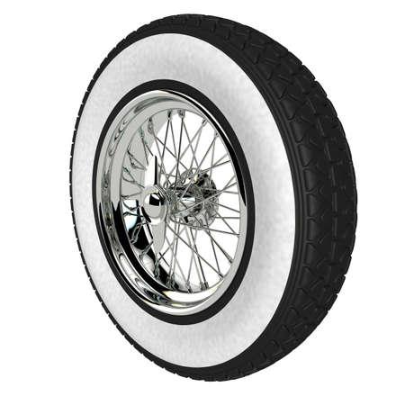 aluminium: Automotive wheel isolated on white. 3D render