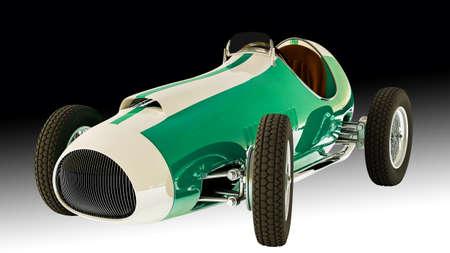 exposición: Carreras de coches.3D render Foto de archivo