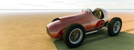 Racing car.3D render Фото со стока