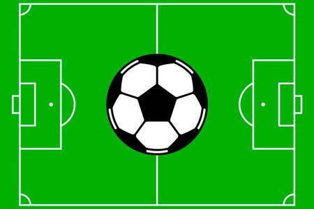 Soccer field vector Stock Illustratie