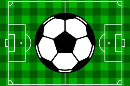 dimensions: Soccer field vector Illustration