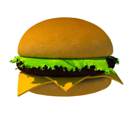 The perfect hamburger 3D render