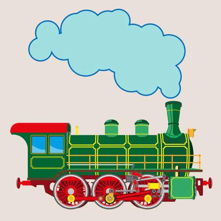 Locomotive à vapeur à dessin animé brillant Banque d'images - 82697635