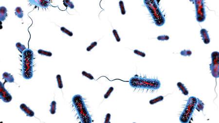 Bacteria virus 3D render