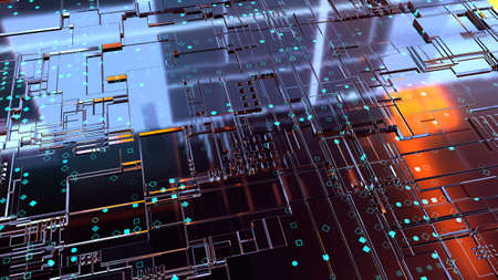 3D Abstract Background. Render Stock Photo