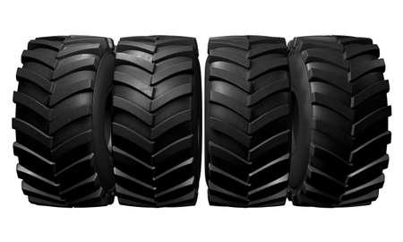 Tractor tire. 3D render