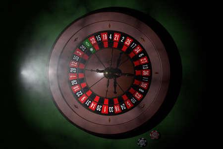Casino roulette wheel. 3D render Stock Photo