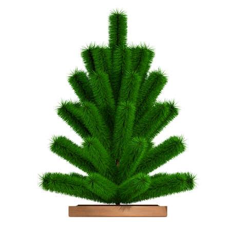 Small christmas tree. 3D render Stock Photo