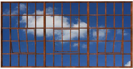 Window frame. 3D render Stock Photo