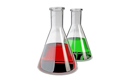 Chemical laboratory flask isolated. 3D render
