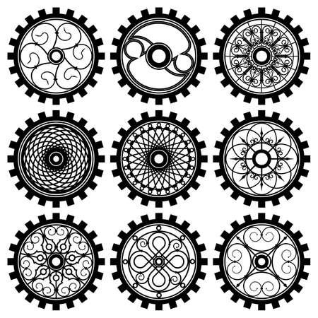Gears vector illustration set