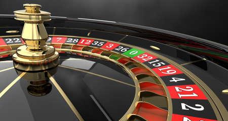 Casino roulette wheel 3D